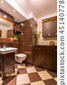 Modern brown bathroom interior 45140778