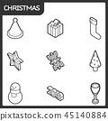 christmas isometric symbol 45140884