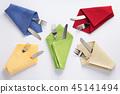 knife and fork in folded napkin 45141494