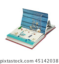 open book with beach 45142038