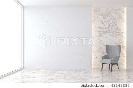 Minimal living room 3d render 45145885