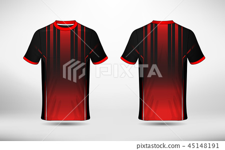 Black and red layout e-sport t-shirt design 45148191