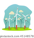 wind energy turbines on filed 45148578