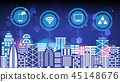 Abstract technology innovation smart city 45148676