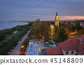 sunset, sopot, town 45148809