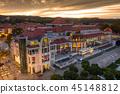 sunset, sopot, square 45148812