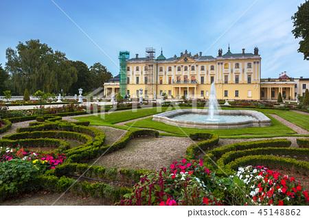 Gardens of Branicki Palace in Bialystok, Poland 45148862