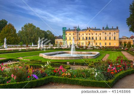 Gardens of Branicki Palace in Bialystok, Poland 45148866