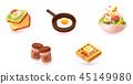 Vector breakfast icon set 45149980