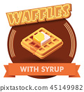 Vector waffle illustration or label for menu 45149982