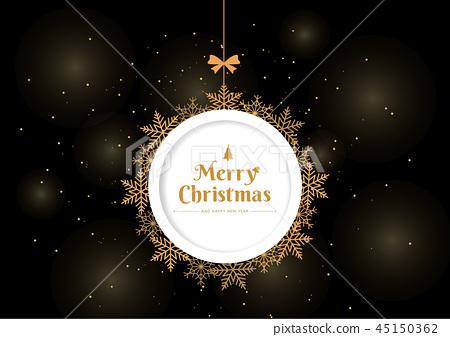 Snowflake Christmas background 45150362