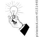 light,bulb,hand 45151440