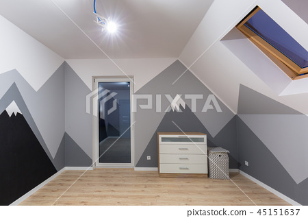 Kids bedroom with mountains chalkboard paint 45151637