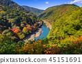 arashiyama, autumn, river 45151691