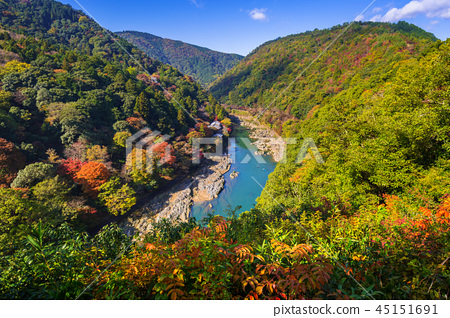 Autumn at Arashiyama view point, Japan 45151691