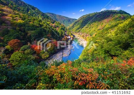 Autumn at Arashiyama view point, Japan 45151692