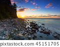 baltic, beach, sunrise 45151705