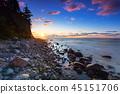 baltic, beach, sunrise 45151706