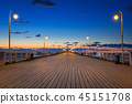 sopot, pier, night 45151708