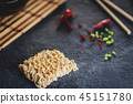 Raw asian instant noodles 45151780