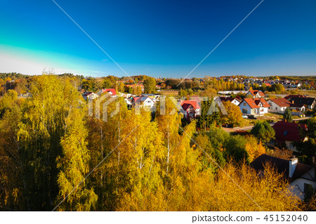 Beautiful autumnal scenery in Poland 45152040