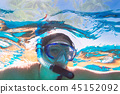 Woman at snorkeling in Red Sea, Egypt 45152092