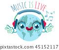 headphone, music, vector 45152117