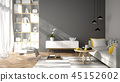 Interior modern design room 3D illustration 45152602