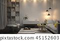 3d, interior, modern 45152603