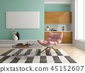 3d, chair, floor 45152607