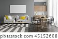 3d, floor, interior 45152608