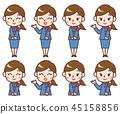 여성 안내소 세트 45158856