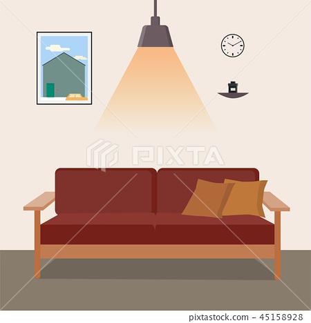 living room vector  45158928