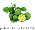 bergamot fruit with leaf with water drop 45161056