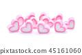 Marshmallows isolated on white background 45161060