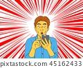 男子驚訝於電子郵件到達智能手機 45162433