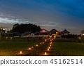 나라 아스카 무라 아스카 빛의 회랑 강변 사원 앞의 라이트 업 45162514