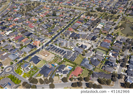 Aerial photo of houses in a suburb in Melbourne 45162966