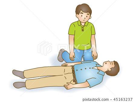 急救圖73:緊急復甦,胸部按壓 45163237