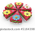 Holiday triangle Cardboard Cake or pie Box, Packaging For Food, Gift Or Other Products 3d 45164398