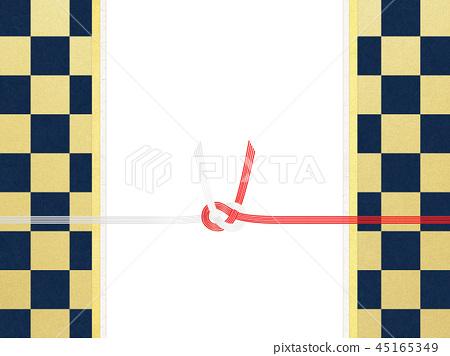 Japanese paper-Japanese-Japanese style-Japanese pattern-checkered pattern-red and white-paper-Mizuhiki 45165349