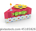 Holiday triangle Cardboard Cake or pie Box, Packaging For Food, Gift Or Other Products 3d 45165826