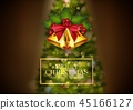 Christmas background golden bells and christmas tr 45166127