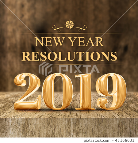 Gold shiny 2019 new year resolutions at woode 45166633