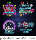 sign, vector, christmas 45167542