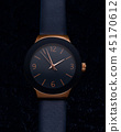 Woman watch, gold and blue color 45170612