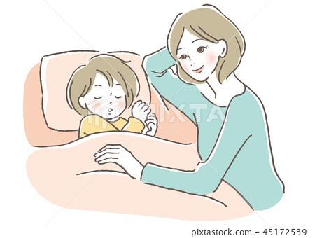 孩子和母親 45172539