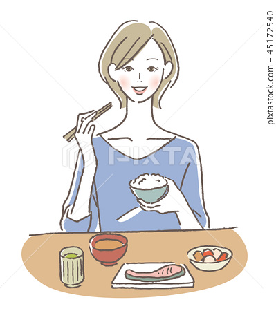 一个女人吃 45172540