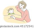 媽媽 父母和小孩 親子 45172541