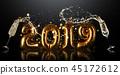 New Year 2019 celebration sign 45172612
